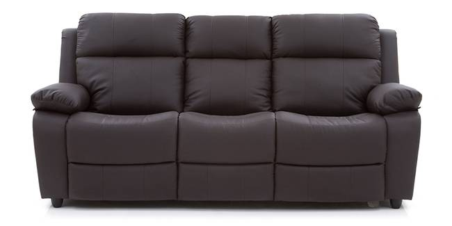 Robert Recliner Sofa Set (Chocolate Brown Leatherette) (Chocolate Brown, Leatherette Sofa Material, Regular Sofa Size, Regular Sofa Type)