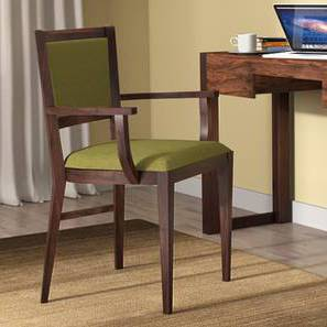 Aurelio Study Chair (Mahogany Finish, Olive) by Urban Ladder - - 88361