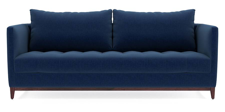 Florence Compact Sofa (Cobalt Blue) (Cobalt, Fabric Sofa Material, Compact Sofa Size, Regular Sofa Type) by Urban Ladder