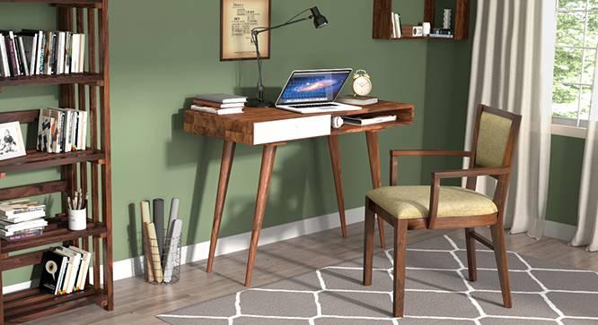 Roswell - Aurelio Study Sets (Teak Finish, White) by Urban Ladder