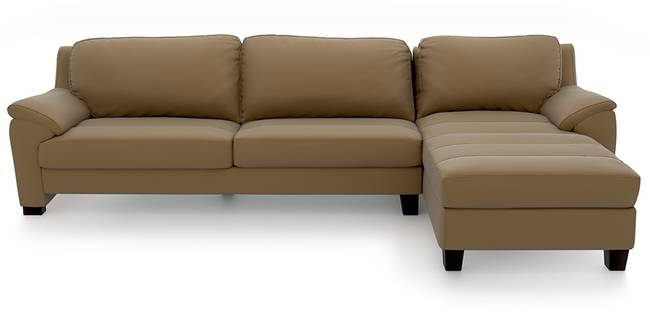 Farina Half Leather Sectional Sofa (Camel Italian Leather) (Camel, Regular Sofa Size, Sectional Sofa Type, Leather Sofa Material)