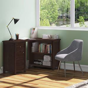 Dickens Corner Desk (Mahogany Finish) by Urban Ladder - - 89857