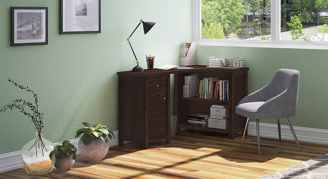 Dickens Corner Desk (Mahogany Finish) by Urban Ladder