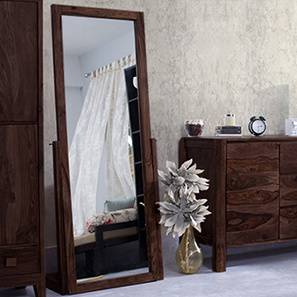 Sirius Standing Mirror (Mahogany Finish) by Urban Ladder - - 91219
