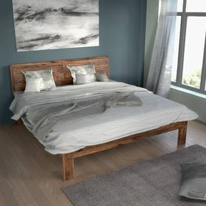 Terence Bed (Teak Finish, King Bed Size) by Urban Ladder - Full View Design 1 - 97045
