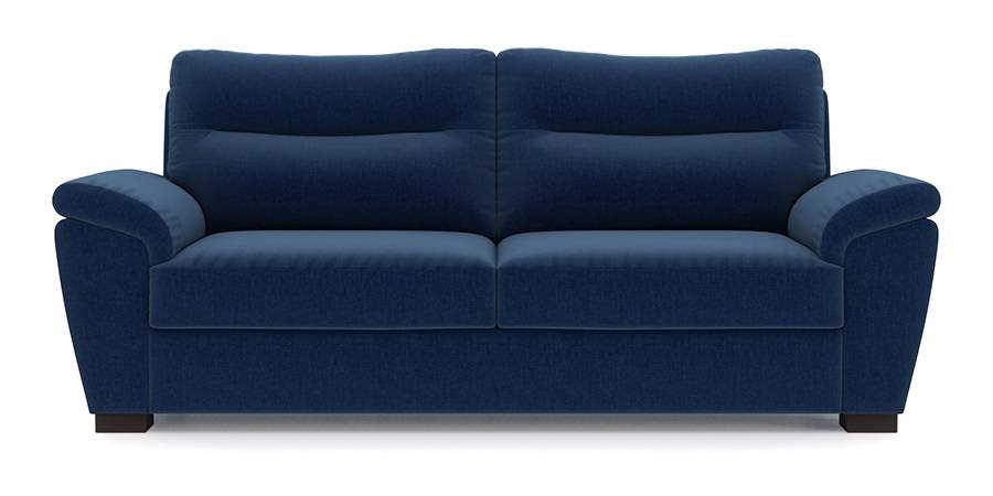 Adelaide Sofa (Cobalt Blue) (Cobalt, Fabric Sofa Material, Regular Sofa Size, Regular Sofa Type) by Urban Ladder - - 92950