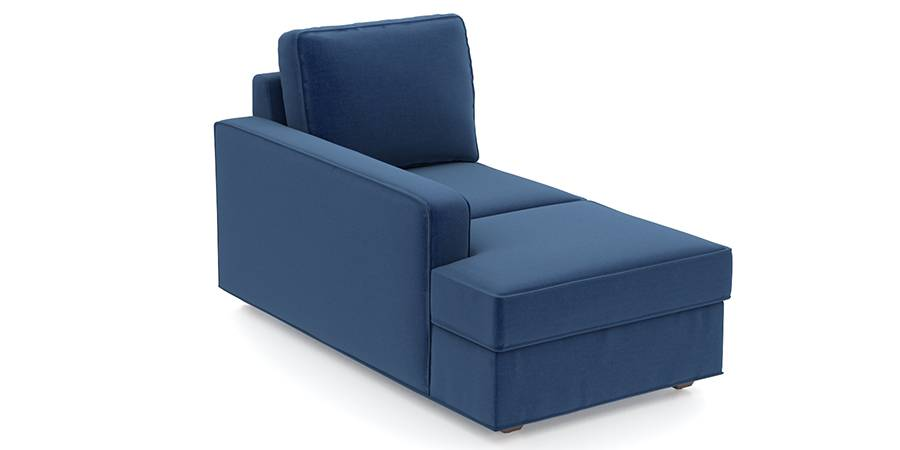 Apollo Sofa Set (Cobalt, Fabric Sofa Material, Compact Sofa Size, Soft Cushion Type, Sectional Sofa Type, Left Aligned Chaise Sofa Component, Regular Back Type, Regular Back Height) by Urban Ladder - - 96993