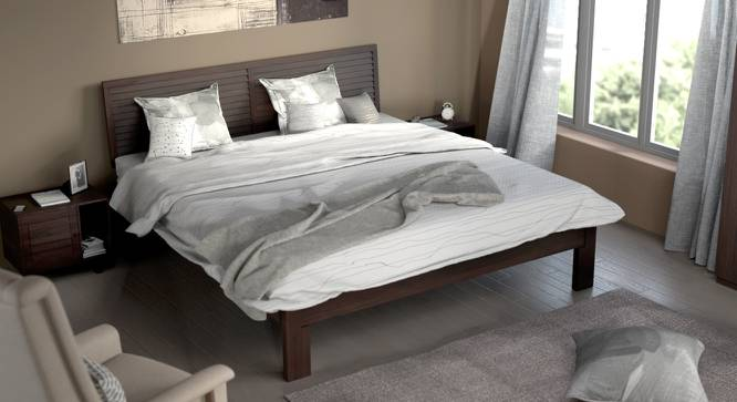 Terence Bed (Mahogany Finish, Queen Bed Size) by Urban Ladder