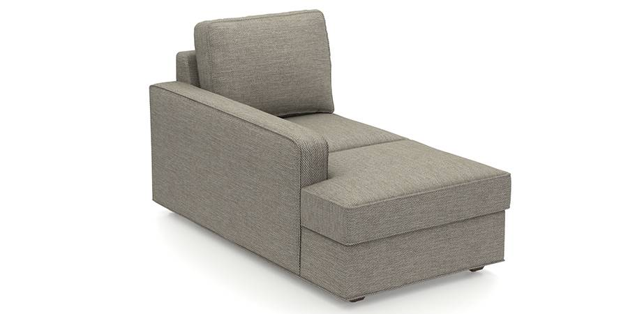 Apollo Sofa Set (Mist, Fabric Sofa Material, Compact Sofa Size, Firm Cushion Type, Sectional Sofa Type, Left Aligned Chaise Sofa Component, Regular Back Type, Regular Back Height) by Urban Ladder - - 98342
