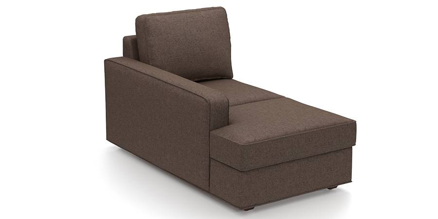 Apollo Sofa Set (Mocha, Fabric Sofa Material, Compact Sofa Size, Firm Cushion Type, Sectional Sofa Type, Left Aligned Chaise Sofa Component) by Urban Ladder