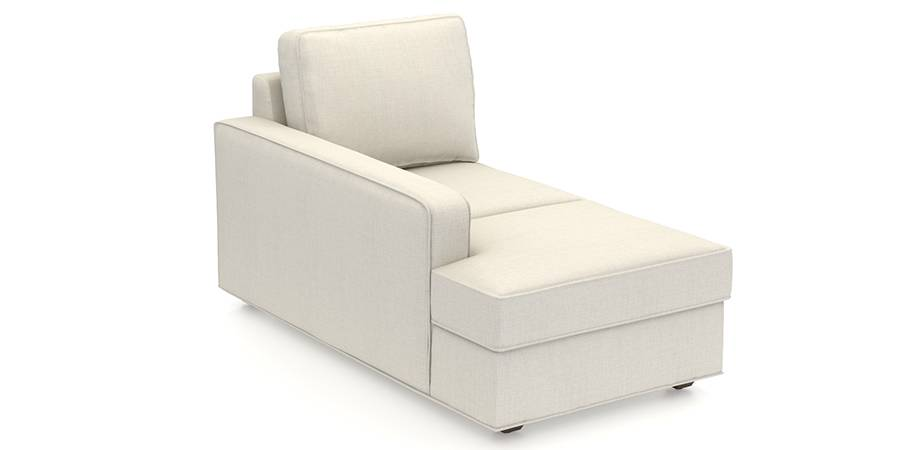 Apollo Sofa Set (Pearl, Fabric Sofa Material, Compact Sofa Size, Firm Cushion Type, Sectional Sofa Type, Left Aligned Chaise Sofa Component) by Urban Ladder