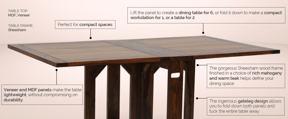 Danton Dining Table by Urban Ladder