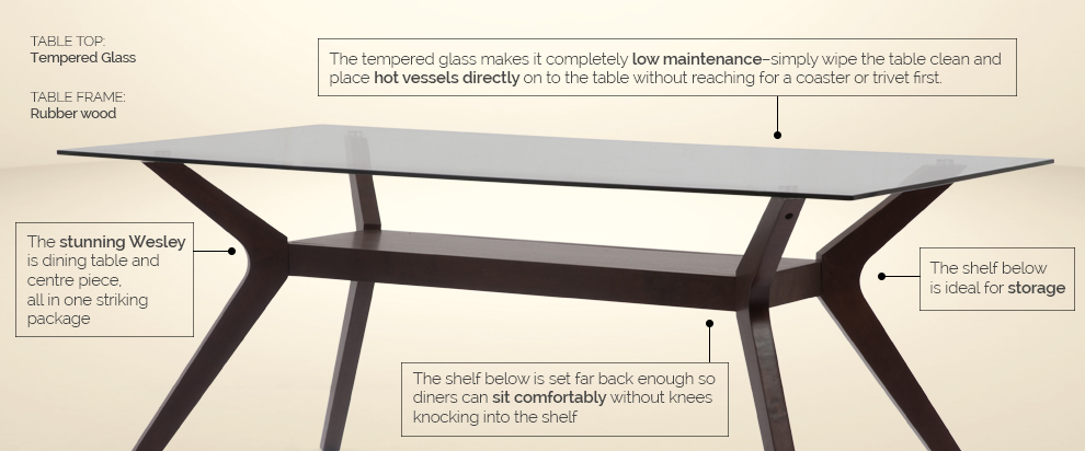 Wesley Dining Table by Urban Ladder