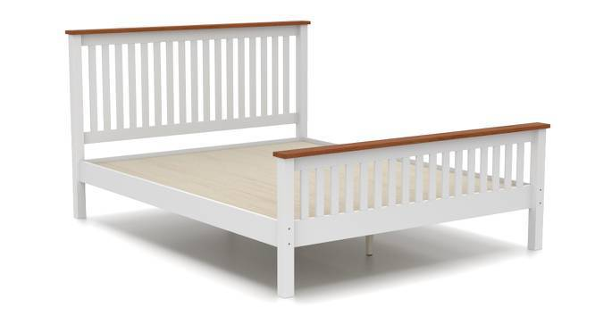 Athens Bed (Queen Bed Size, White Finish) by Urban Ladder