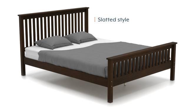 Athens Bed (Queen Bed Size, Dark Walnut Finish) by Urban Ladder