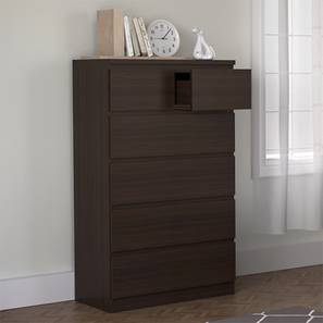Bocado Tall Chest Of Drawers Dark Walnut Finish 6 Drawer Configuration By Urban