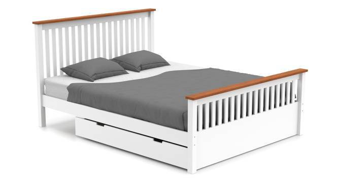Athens Storage Bed (Queen Bed Size, White Finish) by Urban Ladder