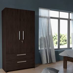 Domenico Wardrobe Two Door No Mirror With Drawer Configuration By Urban Ladder