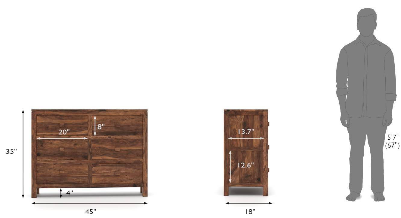 Kona chest of drawers teak 09