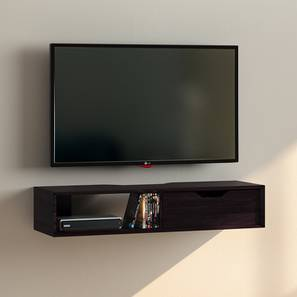 Sawyer Wall Mounted Tv Unit Mahogany Finish With Drawer Configuration By Urban Ladder