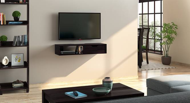 Sawyer Wall Mounted TV Unit (Mahogany Finish, With Drawer Configuration) by Urban Ladder