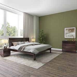Alaca Master Bedroom Set (Mahogany Finish, King Bed Size) by Urban Ladder