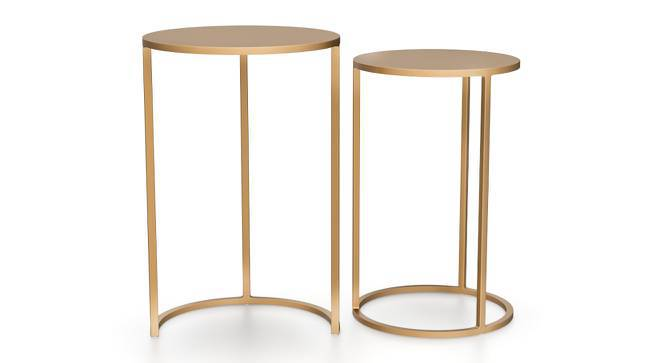 Floren Nested Side Tables (Gold Finish) by Urban Ladder