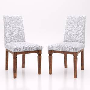 Malabar Dining Chairs Set Of 2 (Teak Finish, Riak) by Urban Ladder
