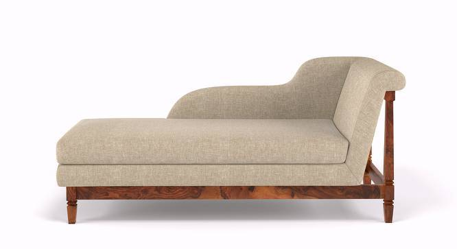 Malabar Chaise (Teak Finish, Macadamia Brown) by Urban Ladder