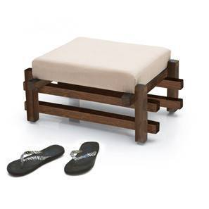 Perch Foot Stool (Teak Finish) by Urban Ladder