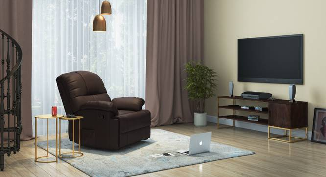 Cooper Rocker Recliner (Chocolate Brown, Leatherette Material) by Urban Ladder