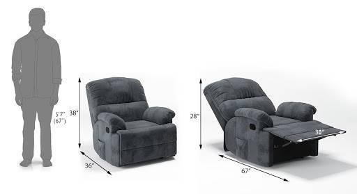 Cooper rocker recliner grey