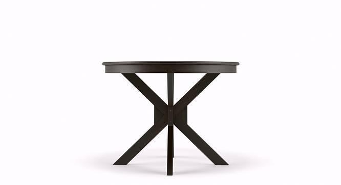 Liana 4 Seater Round Dining Table (Mahogany Finish) by Urban Ladder