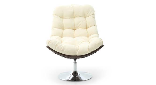 Calabah Swivel Lounge Chair (Cream) by Urban Ladder