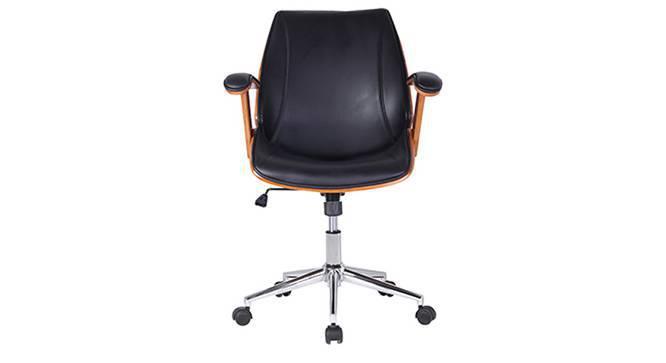 Ray Study Chair (Walnut Finish, Black) by Urban Ladder