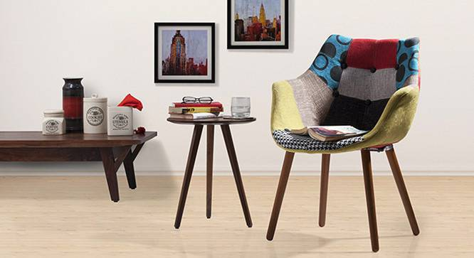 Reden Lounge Chair (Patchwork) by Urban Ladder