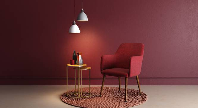 Murray Lounge Chair (Red) by Urban Ladder