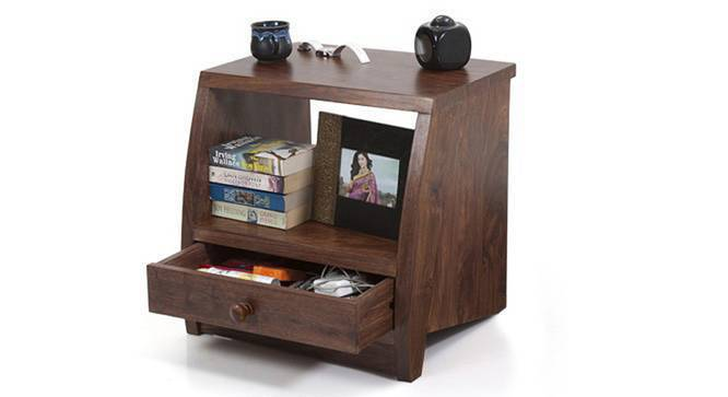 Siesta Bedside Table (Teak Finish) by Urban Ladder