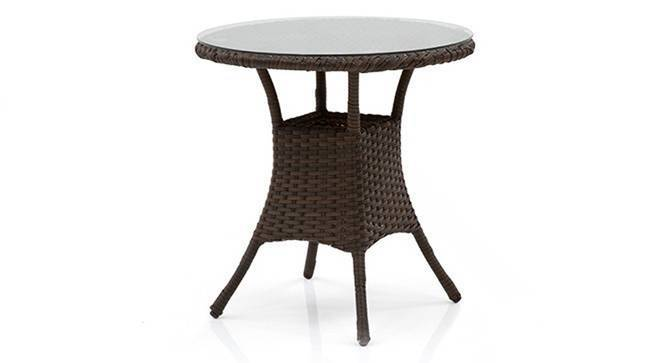 Calabah Patio Table (Brown) by Urban Ladder