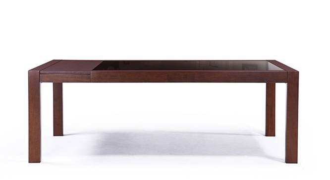 Vanalen 6 to 8 Glass Top Extendable Dining Table (Dark Walnut Finish) by Urban Ladder