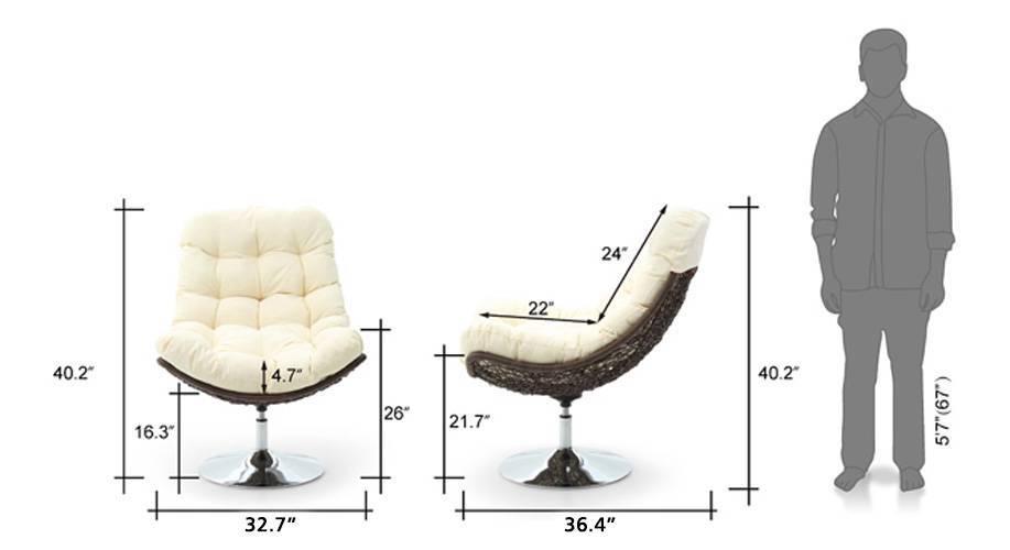 Calabah swivel lounge chair cream 09 10