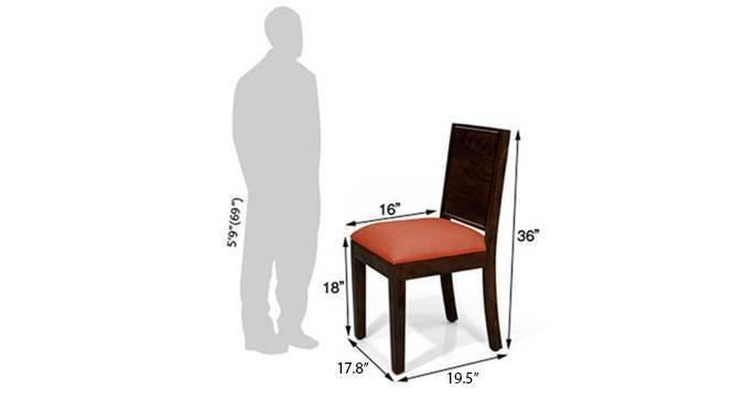 Oribi dining chairs mahogany brunt orange 07