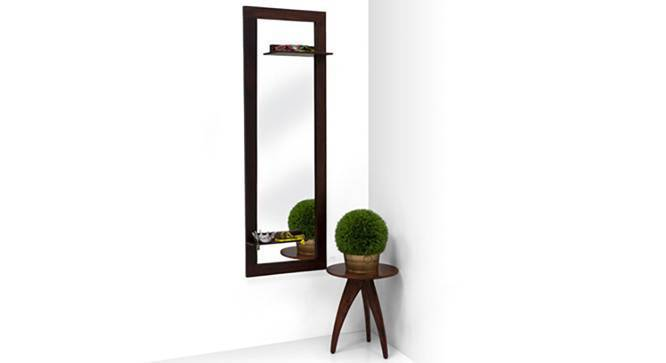 Damara Mirror (Mahogany Finish, With Shelves Configuration) by Urban Ladder