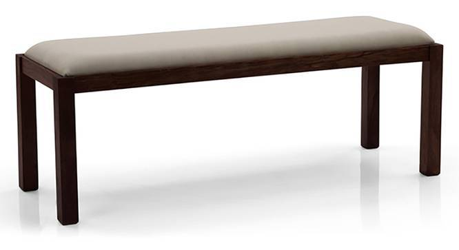 Oribi Upholstered Dining Bench (Mahogany Finish, Wheat Brown) by Urban Ladder