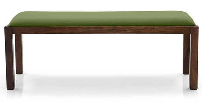 Oribi Upholstered Dining Bench (Teak Finish, Avocado Green) by Urban Ladder