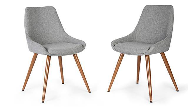 Rickman Lounge Chair - Set of 2 (Grey) by Urban Ladder