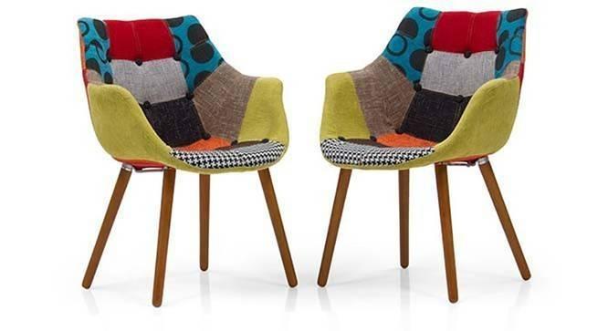 Reden Lounge Chairs Set (Patchwork) by Urban Ladder