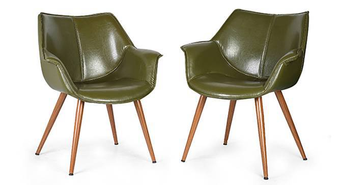 Keaton Lounge Chair - Set of 2 (Olive Green) by Urban Ladder