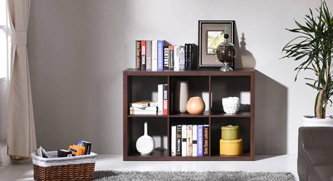 Boeberg Bookshelf (Dark Walnut Finish, 3 x 2 Configuration, Without Inserts) by Urban Ladder
