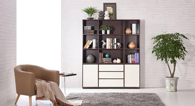 Iwaki Bookshelf (Dark Walnut Finish, 3 Drawer 2 Cabinet Configuration) by Urban Ladder